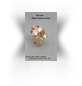"Ring ""The Hermit crab"", gold, diamond, sapphires, tanzanite, pearls, agate"