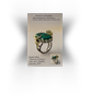"Ring from the ""Memory of Venice"" headset, gold, silver, malachite."