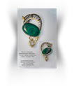 "Author's pendant from the collection ""Memories of Venice"", gold, silver, malachite, sapphire"